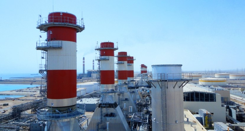 Saudi Electricity Company Saudi Arabia Shoiba Gas turbine Power generation Siemens SGT6-2000E Gas turbine exhaust stack Exhaust silencer Diverter By-pass stack Combined cycle