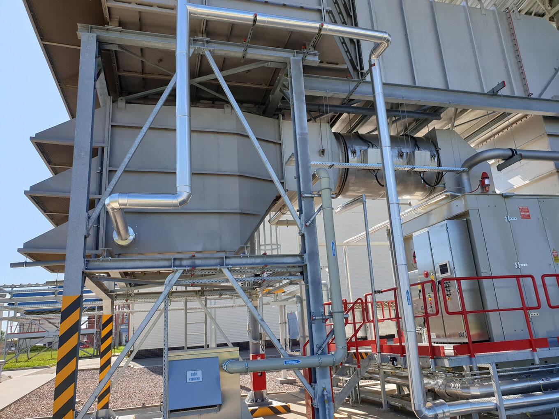Compressor station Gas turbine Acoustic enclosure Ventilation unit Axial fans Solar Taurus 70 Solar Mars 90 Static filtration Bleed-heating anti-icing