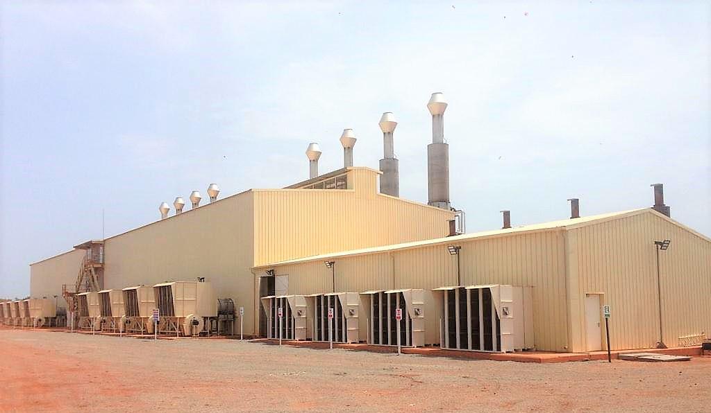 Mali Fekola B2gold Mine d'or Centrale électrique Moteurs Caterpillar CAT 16CM32 CAT 3516 Filtre à sable AAF Dust louvre AAF ASC Filtre inertiel Filtre autonettoyant ARAMCO