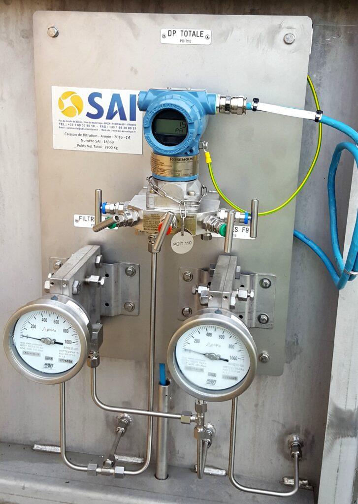 Mesure de la perte de charge Transmetteur de pression différentielle Manomètre différentiel Mesure de l'encrassement des filtres