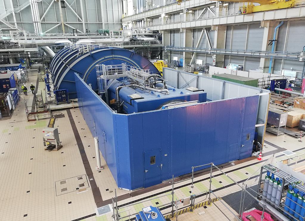 EPR EDF Flamanville Steam turbine  Acoustic wall Noise barrier Nuclear power plant