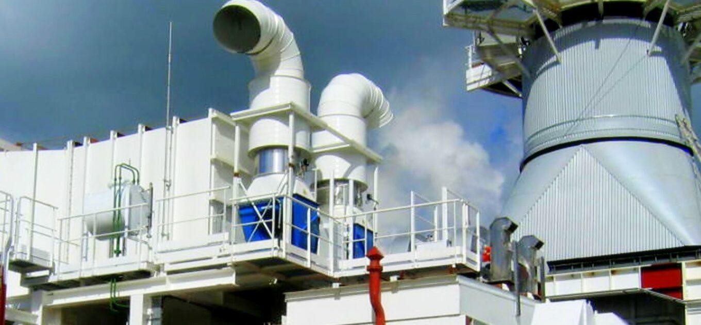 Gas turbine enclosure  Ventilated acoustic enclosure Axial fan  Splitters  Baffle type silencer  Ventilation system  Ventilation network CFD studies  GE ALSTOM SIEMENS MAN