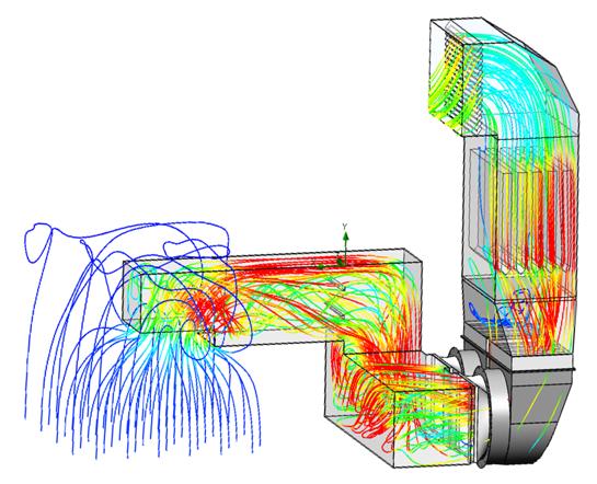 Enceinte de turbine à gaz  Capotage acoustique ventilé Moto-ventilateur Baffles acoustiques Silencieux à baffles Système de ventilation  Etude CFD Aéraulique GE ALSTOM SIEMENS MAN