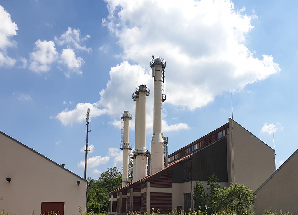 Gas compressor station  Gas turbine Solar Taurus 70 Uniper Scharenstetten Exhaust stack Exhaust system