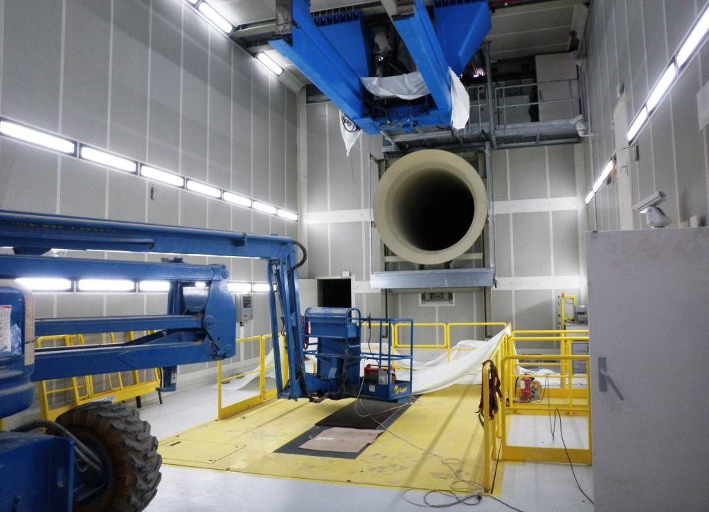 Aircraft engine test bench Saudi arabia Saudi military air force roller shutter Sand protection